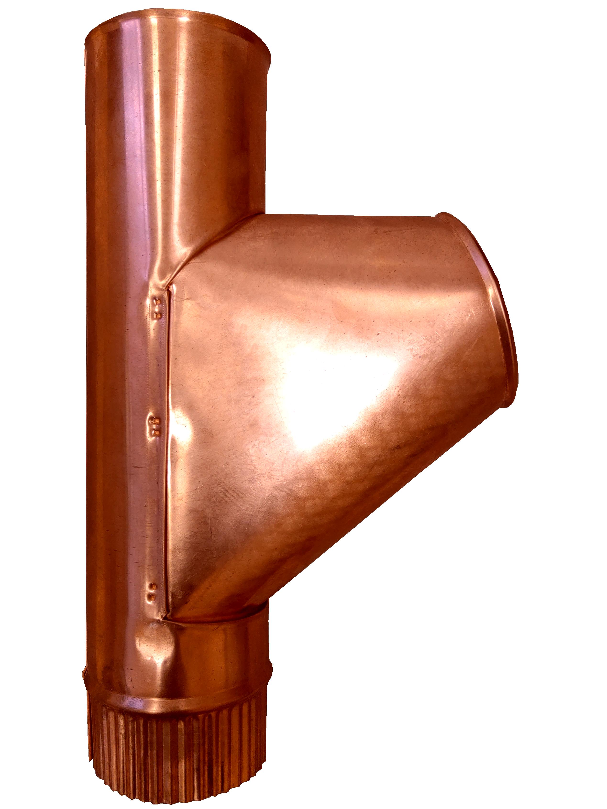 Купить Тройник водосточной трубы МЕДНЫЙ Gutter (Гуттер)